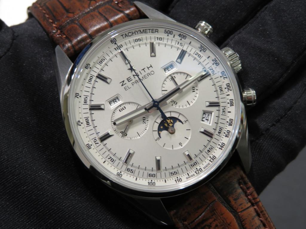 IMG_0199 ゼニスで唯一クロノグラフ、ムーンフェーズ、トリプルカレンダーを表示できる時計! - CHRONOMASTER