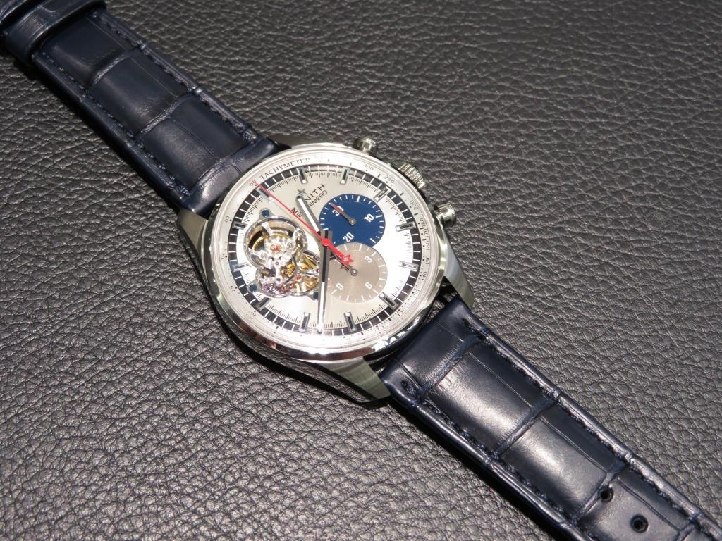 クロノマスター1969 シルバーダイヤルにブルーのアリゲーターを付け替え♪印象が全然違います! - CHRONOMASTER |IMG_0420