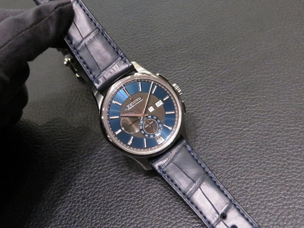 IMG_1953 便利なアニュアルカレンダー搭載の深いブルーが綺麗な「エル・プリメロ ウインザー」 - CHRONOMASTER