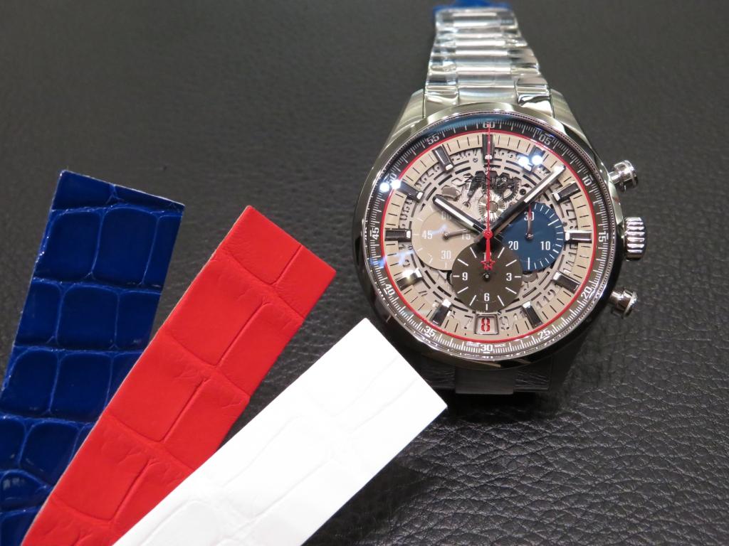 IMG_1968 スケルトンのダイヤルにゼニスらしいカラーリングのインダイヤルがインパクト大!「エル・プリメロ スケルトン 45mm」 - CHRONOMASTER