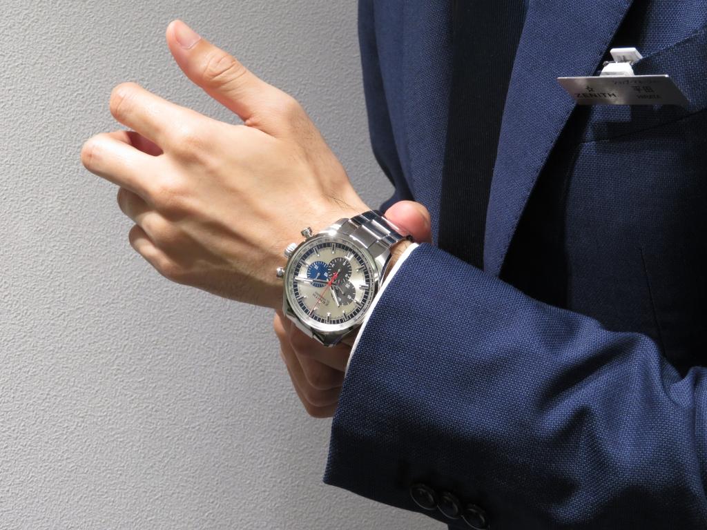 ゼニスらしいダイヤルデザインを大き目サイズでカッコ良く。「36,000VpH 45MM」 - CHRONOMASTER |IMG_2141