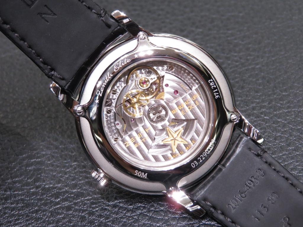 IMG_3064 スモーク仕上げのブラックダイヤルが綺麗な三針モデル ゼニス新作「エリート クラシック」 - ELITE