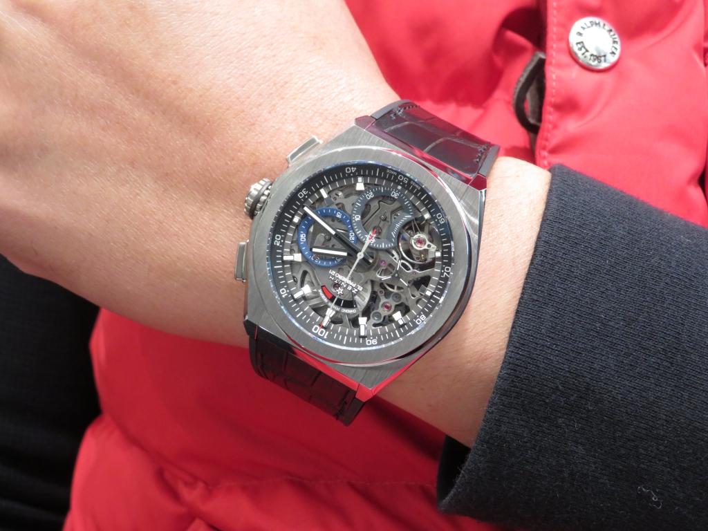 IMG_3710 しっかりとした腕元に良く似合っています。ゼニス デファイ エルプリメロ21 - DEFY