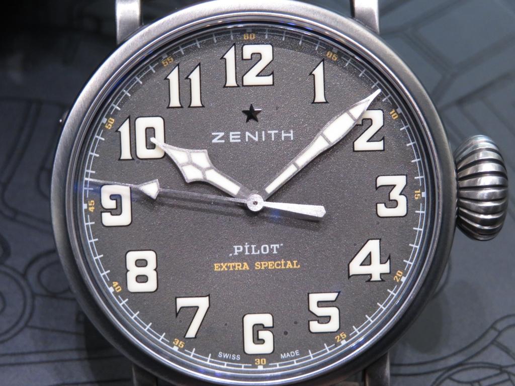 【ゼニス 1st アニバーサリーフェア開催中】バイクが似合うワイルドな時計!パイロット トンアップ - PILOT  IMG_4664