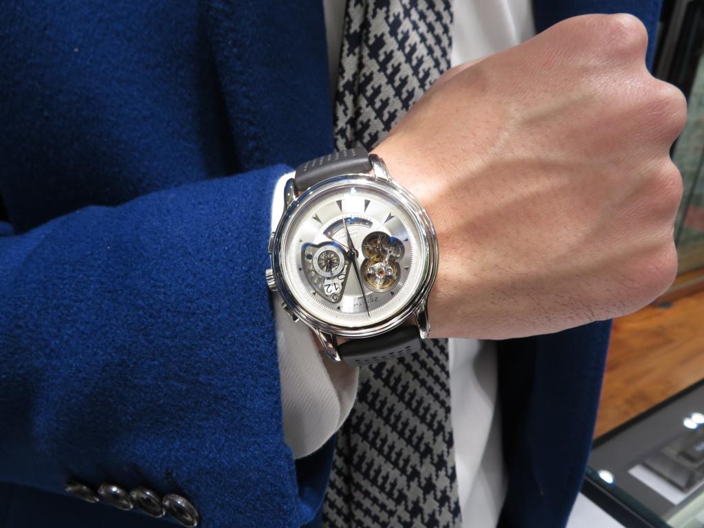 『ゼニスブティック大阪1周年記念フェア開催中。』クロノマスター オープングランドデイトにラバーストラップ - CHRONOMASTER ご案内  IMG_4735