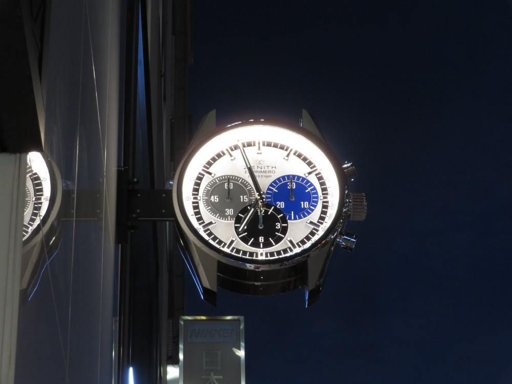 IMG_5038 ゼニスブティック大阪外観にゼニスの大きな時計が設置されました! - OTHERS