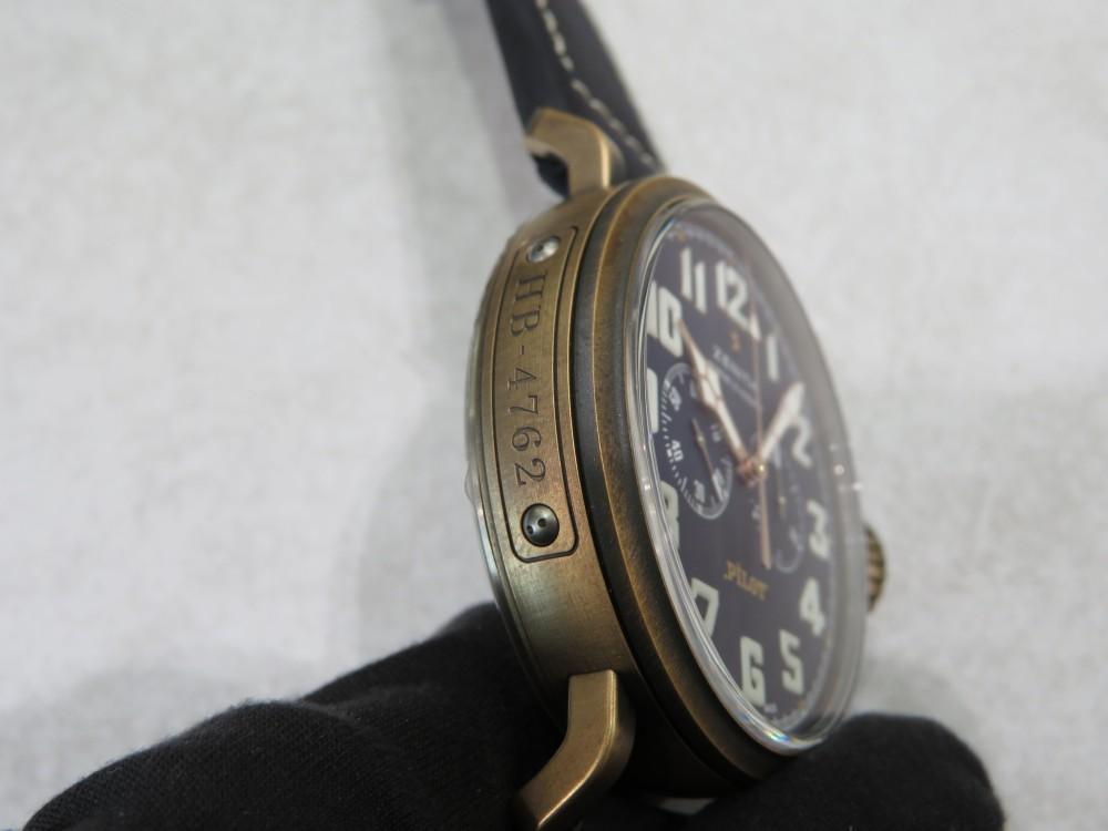 IMG_5080 ゼニスブティック大阪に2018年新作モデル パイロットウォッチ・クロノグラフ・エクストラスペシャル・ブロンズが入荷しました。 - PILOT