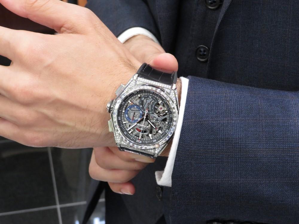 ゼニスブティック大阪に2018年新作スペシャルモデル『デファイ エル・プリメロ21 ダイヤモンド』が入荷致しました。 - DEFY |IMG_5094