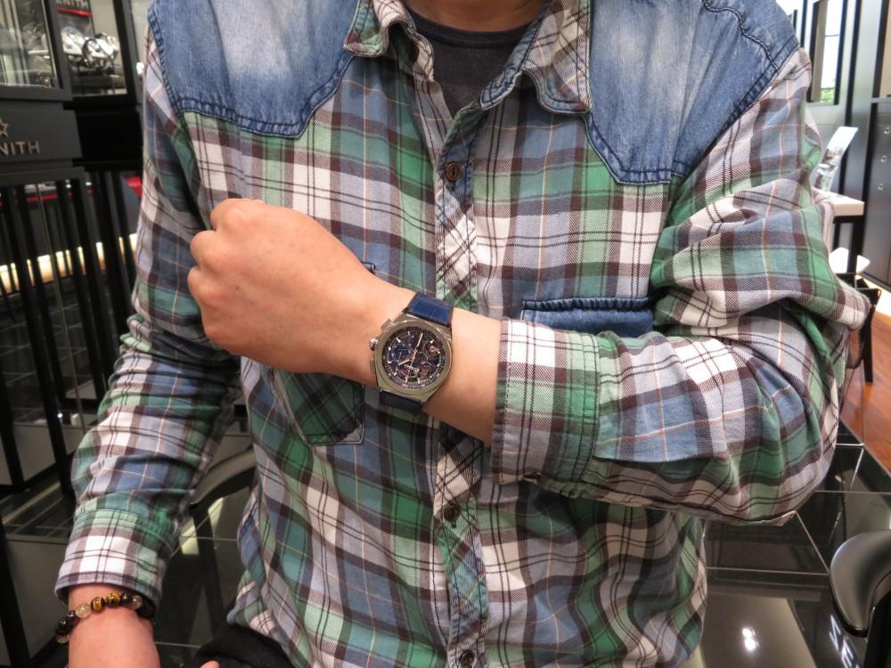IMG_5245 【ゼニス 2018 ニューコレクション フェア開催中!】T.M様、有難うございます!ブルーの綺麗な新作デファイ エル・プリメロ21 - DEFY