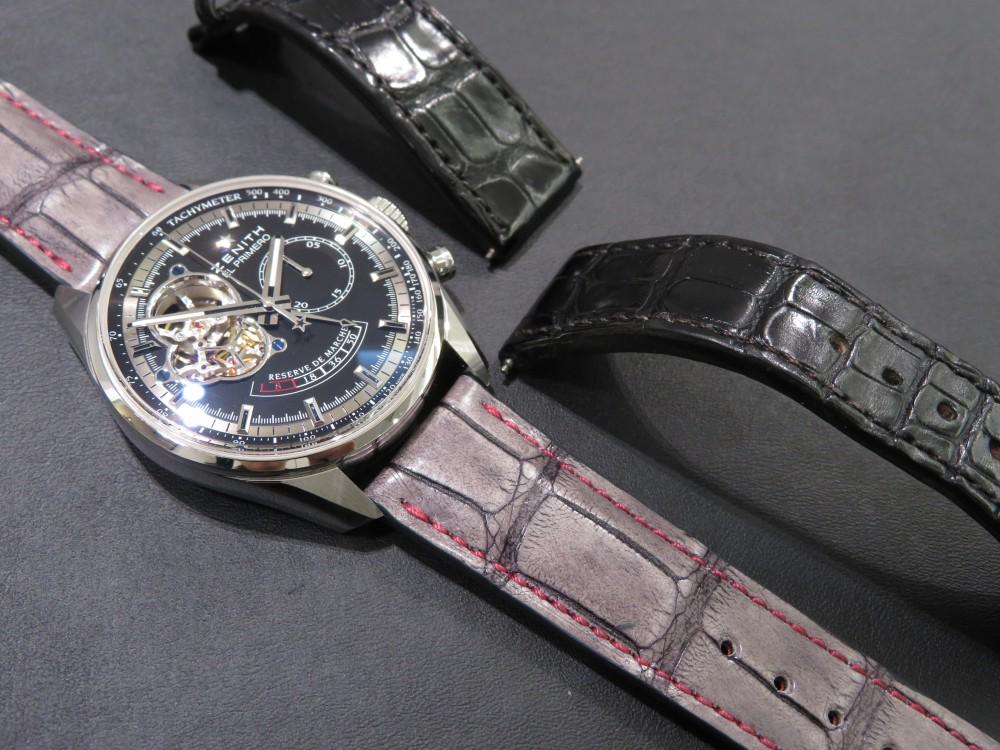 IMG_6358 M.H様のオーダーベルトが出来上がりました!グレーにピンクのステッチがおしゃれです♪ - CHRONOMASTER ベルト/ストラップ