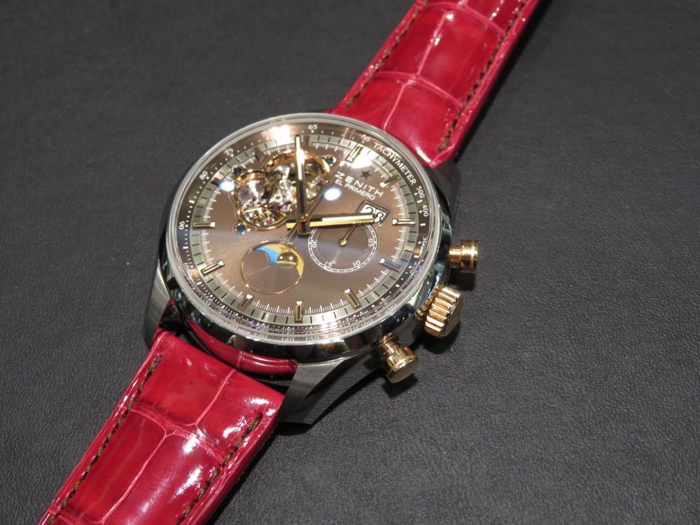 IMG_6409 T.M様の『グランドデイト オープン』に合わせた赤色のオーダーベルトが綺麗です! - CHRONOMASTER