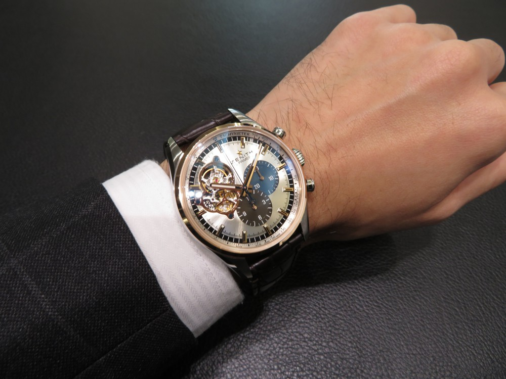 IMG_6637 ベゼルゴールドが美しいモデル!クロノマスターシリーズからエル・プリメロ オープン。 - CHRONOMASTER