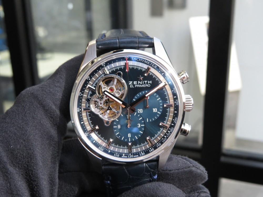 IMG_6694 エル・プリメロ オープン 人気のブルー文字盤が再入荷 - CHRONOMASTER