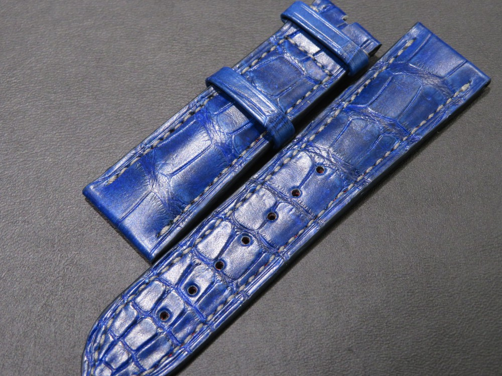 IMG_6780 I様の色鮮やかなブルーのオーダーベルトが出来上がりました! - CHRONOMASTER ベルト/ストラップ
