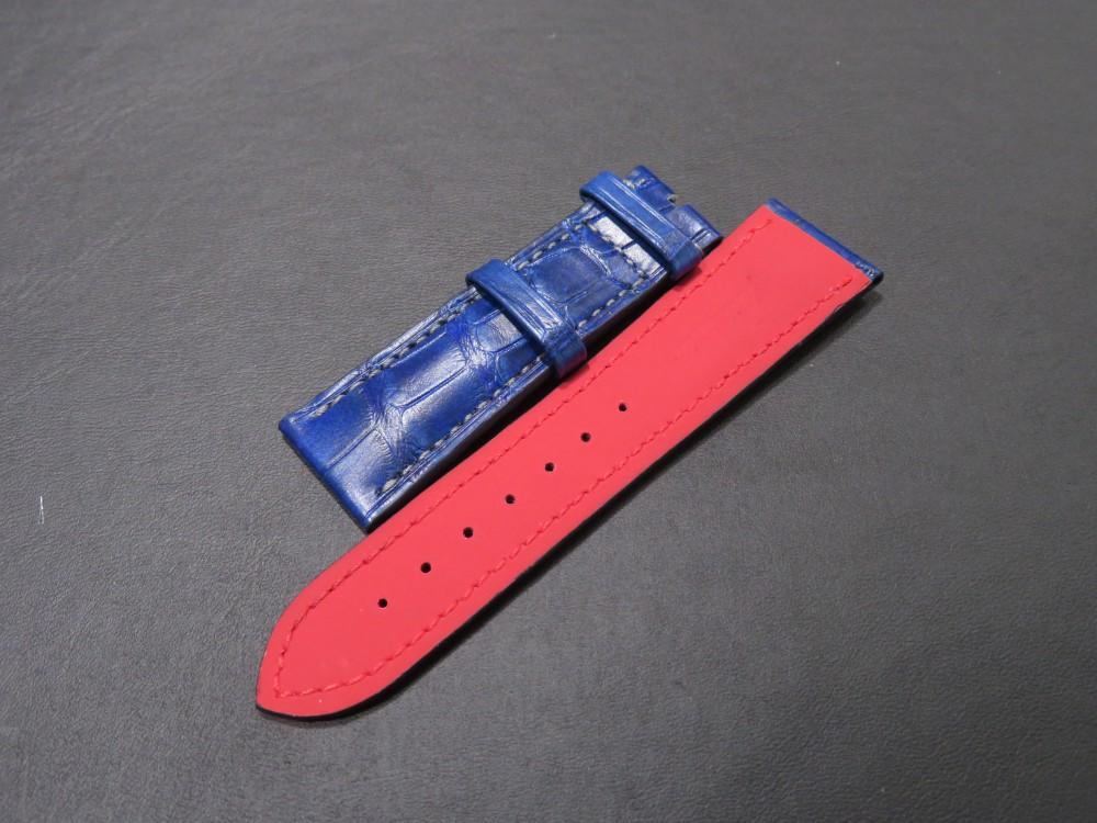 IMG_6782 I様の色鮮やかなブルーのオーダーベルトが出来上がりました! - CHRONOMASTER ベルト/ストラップ