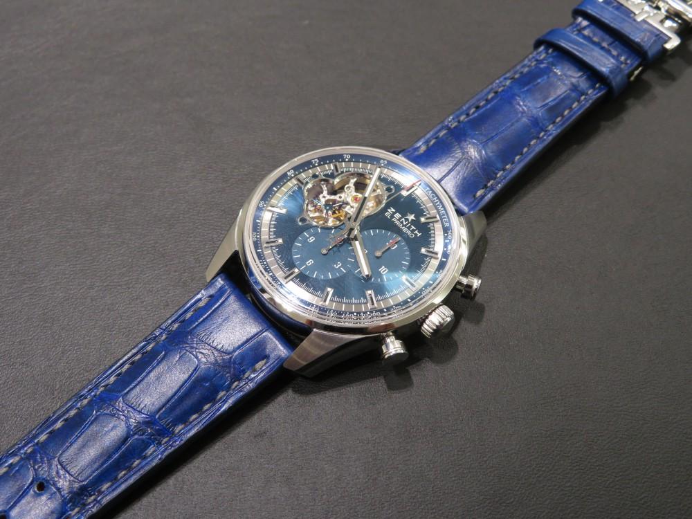 IMG_6784 I様の色鮮やかなブルーのオーダーベルトが出来上がりました! - CHRONOMASTER ベルト/ストラップ