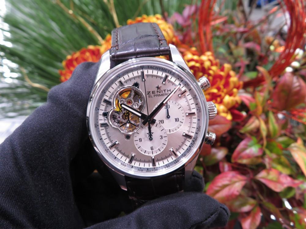 IMG_7025 落ち着いた印象のシルバー文字盤にエル・プリメロの綺麗さが際立つ大人のモデル!エル・プリメロ オープン - CHRONOMASTER