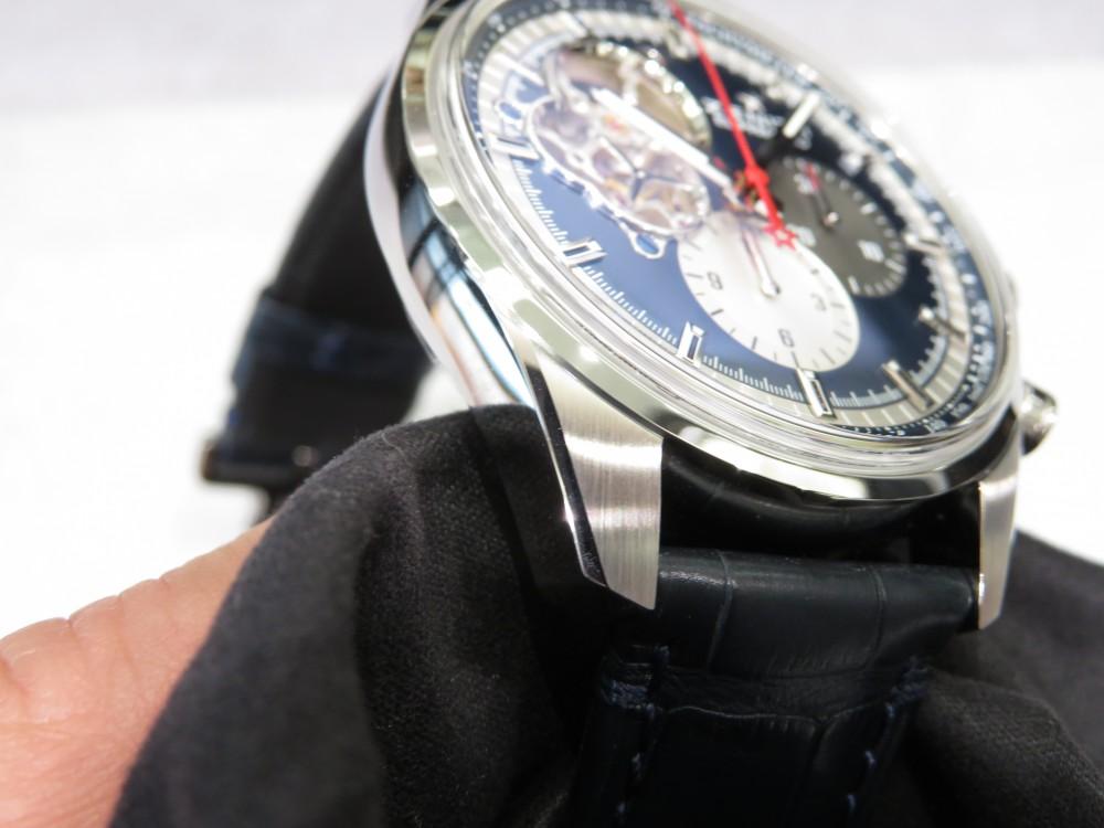 IMG_7968 ブルー、シルバー、レッド、グレーの組み合わせがとてもオシャレなゼニス エル・プリメロ オープン - CHRONOMASTER