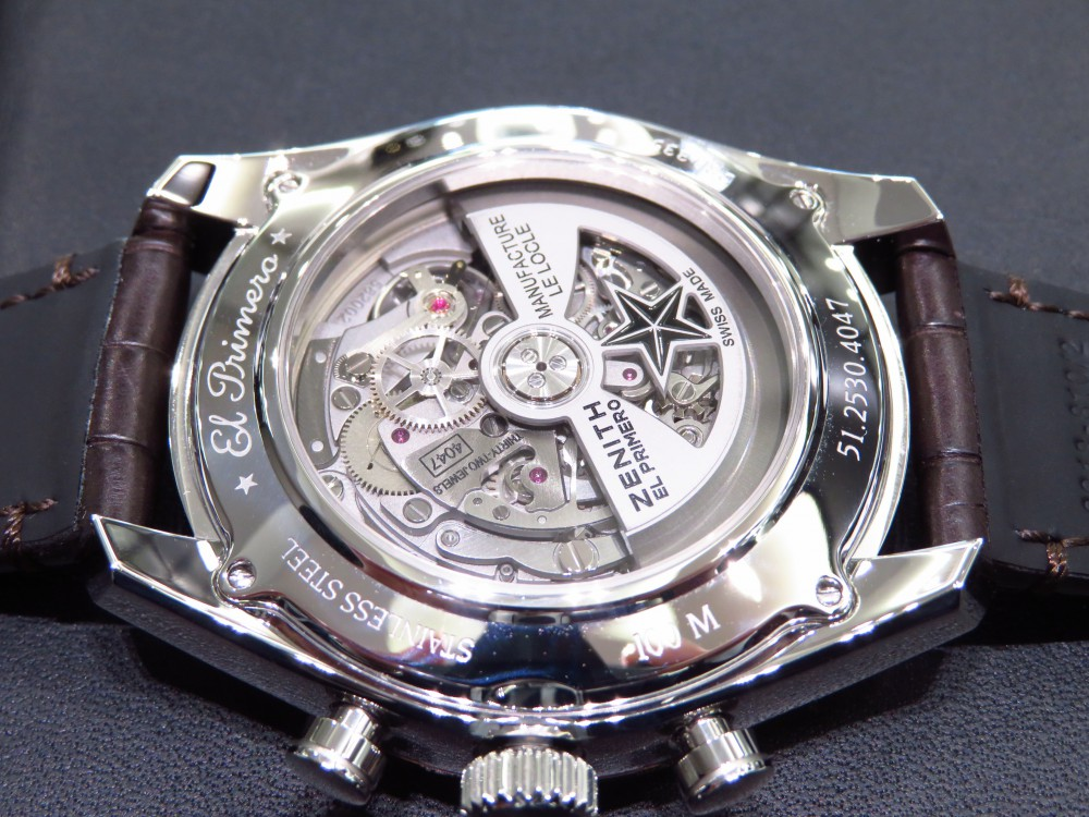 IMG_8156 ゼニスブティック大阪でも人気の高いグランドデイト フルオープンモデルが再入荷! - CHRONOMASTER