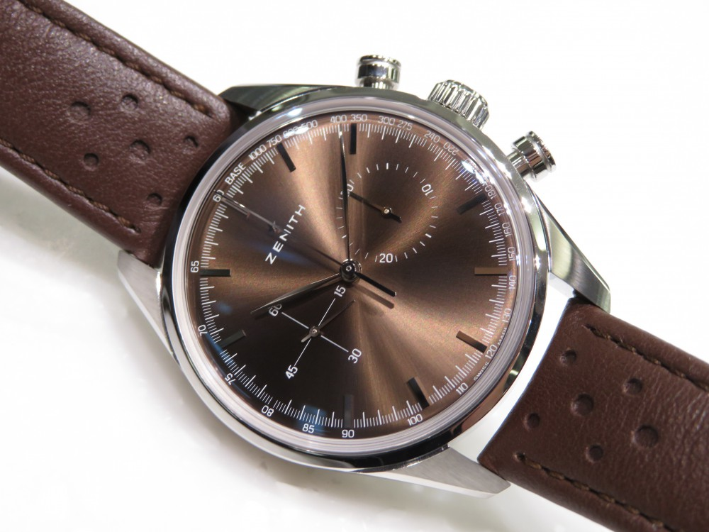IMG_8555 1960年代のゼニスモデルの復刻「ヘリテージ146」トロピカルブラウンの文字盤が綺麗です。 - CHRONOMASTER