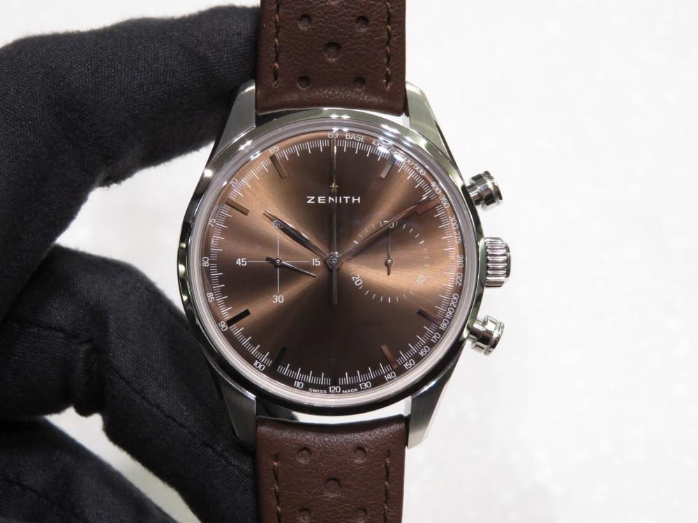 IMG_8557 1960年代のゼニスモデルの復刻「ヘリテージ146」トロピカルブラウンの文字盤が綺麗です。 - CHRONOMASTER