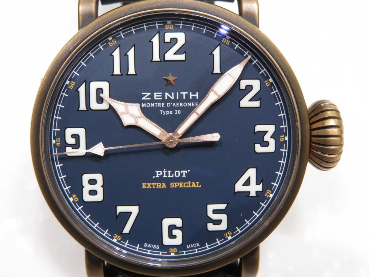 IMG_8665 ゼニス2019年新作「パイロット タイプ20」からカッコ良いブルーの3針モデルが登場!! - PILOT
