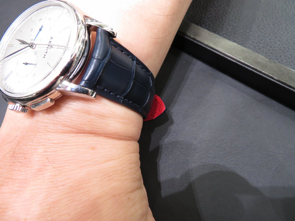 IMG_9355 ゼニス オーダーベルトを付け替えさせて頂きました!! - ELITE ベルト/ストラップ