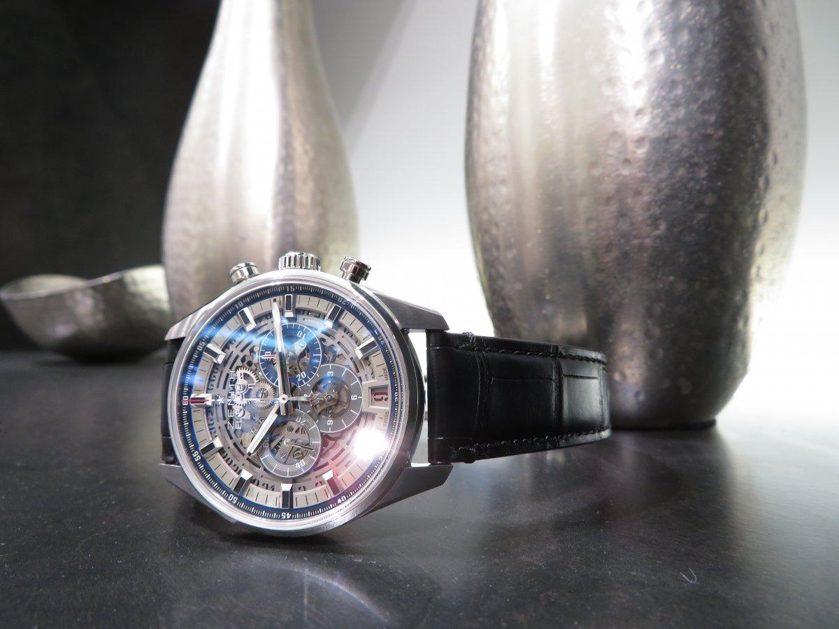 IMG_9413 エル・プリメロのもう一つの顔、フルオープンでファッション性も抜群の高性能時計フルオープンモデル。 - CHRONOMASTER