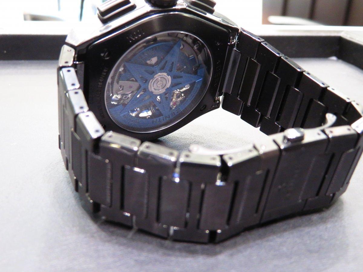 IMG_9459 デファイ エル・プリメロ21 ブティック限定モデルにブラックセラミックブレスの組み合わせがカッコ良すぎる!! - DEFY