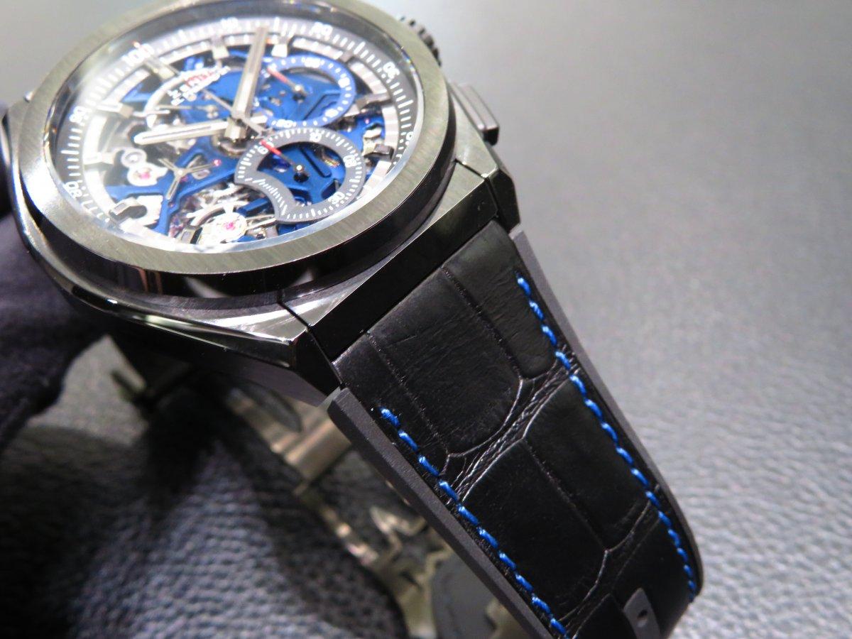 IMG_9468 デファイ エル・プリメロ21 ブティック限定モデルにブラックセラミックブレスの組み合わせがカッコ良すぎる!! - DEFY