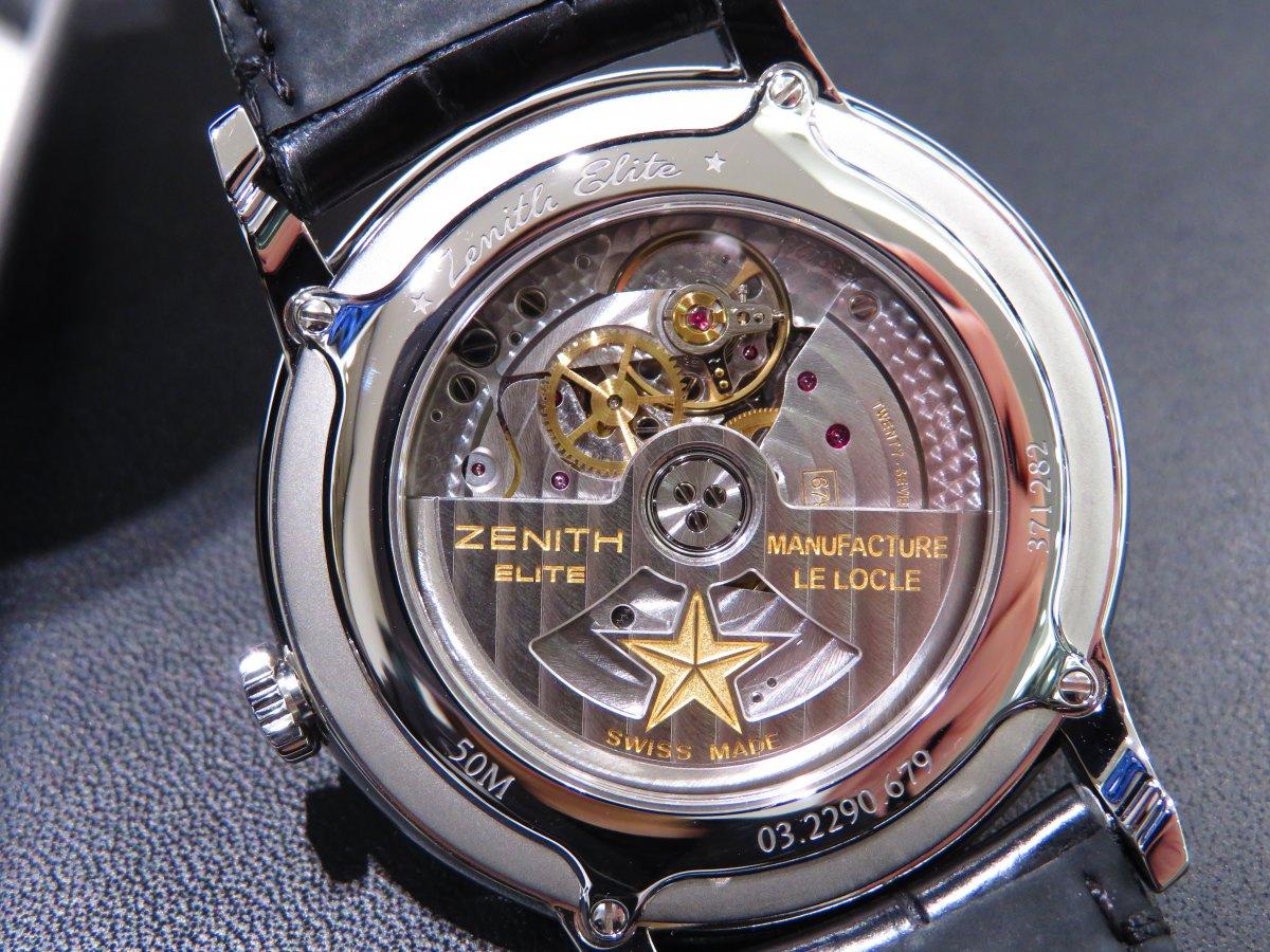 IMG_9625 エリート クラシックはビジネスやフォーマルシーンで使える大人の腕時計!ゼニスブティック大阪でご覧ください! - ELITE