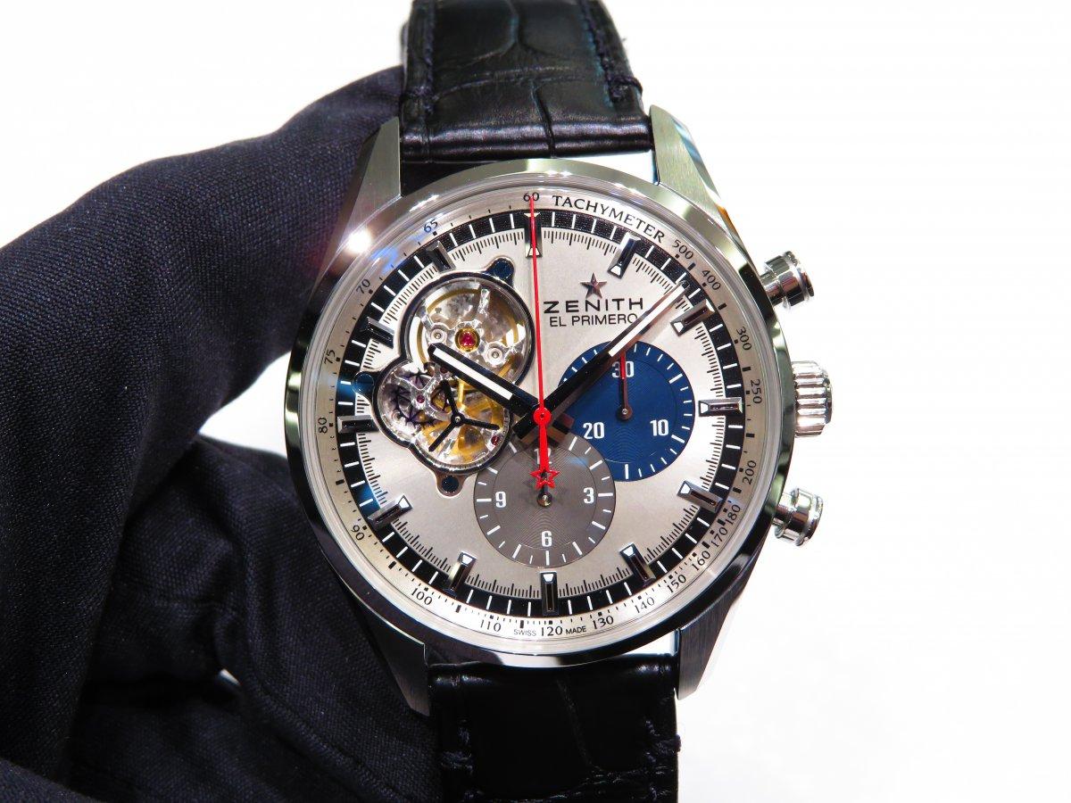 IMG_9775 ゼニスの伝統デザインと最新技術が融合した「エル・プリメロ オープン」が再入荷! - CHRONOMASTER