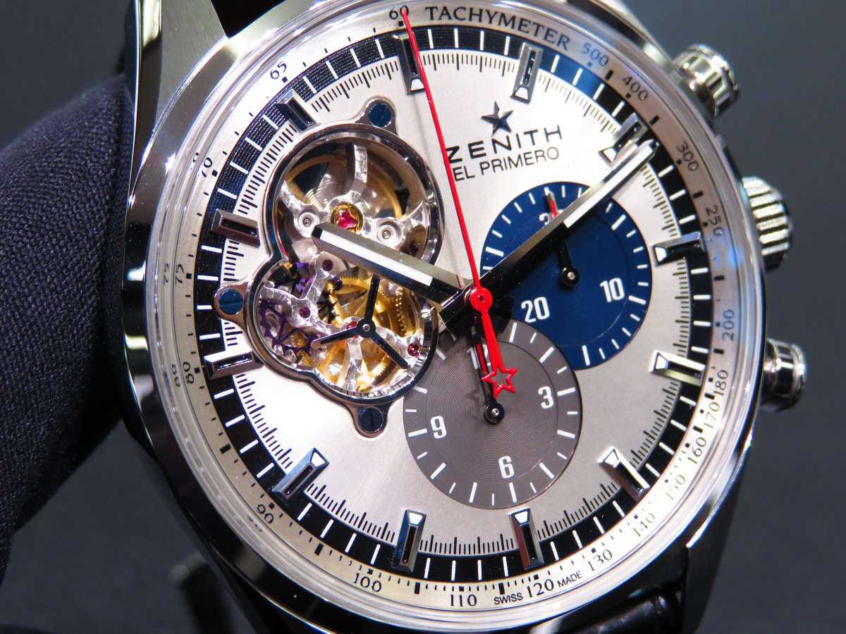 IMG_9779 ゼニスの伝統デザインと最新技術が融合した「エル・プリメロ オープン」が再入荷! - CHRONOMASTER
