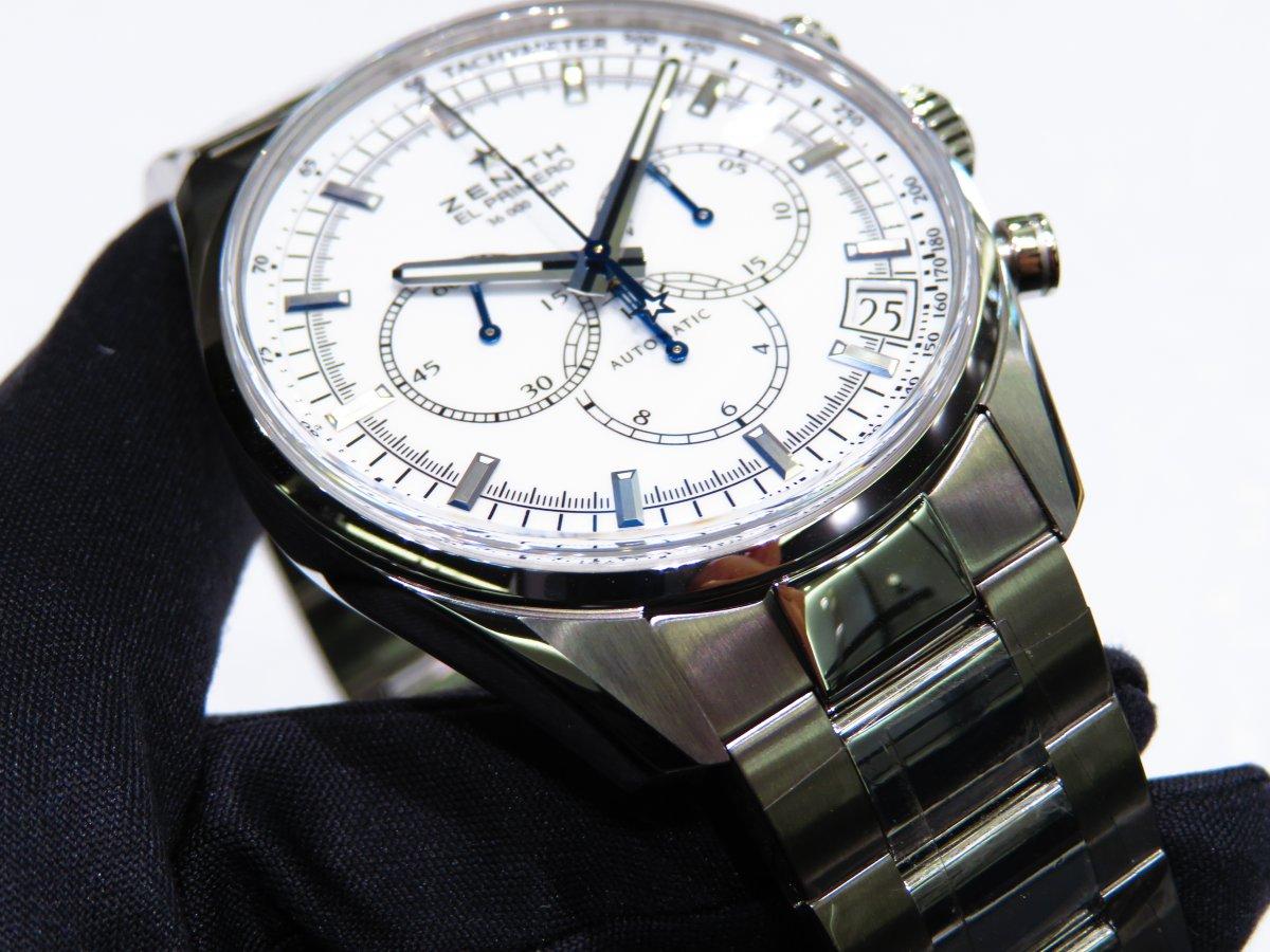 爽やかで清潔感のあるホワイトラッカー文字盤の「エル・プリメロ 36000VpH クラシック」 - CHRONOMASTER  IMG_9795