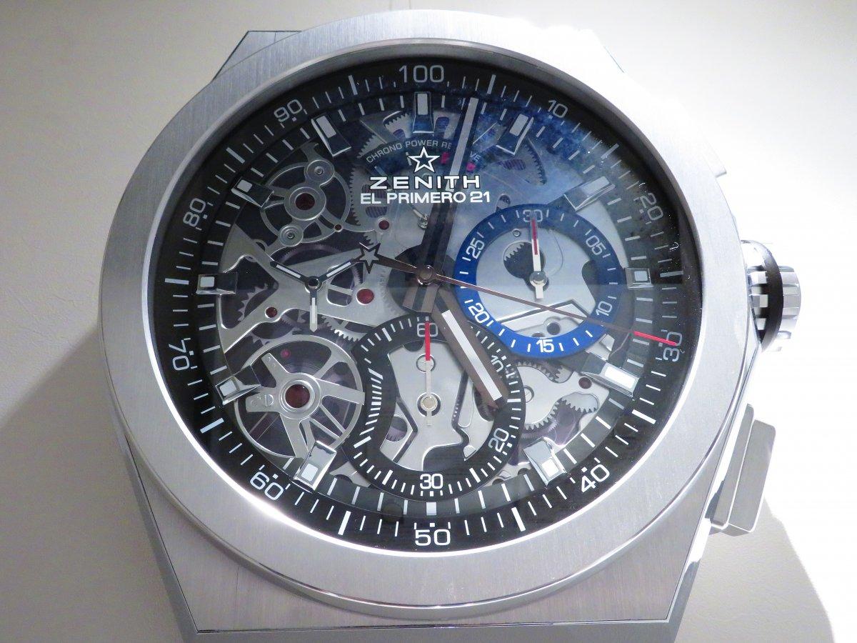 IMG_0051 ゼニスブティック大阪店内にあったゼニスの壁掛け時計がデファイ エル・プリメロ21に変わりました♪ - DEFY ご案内