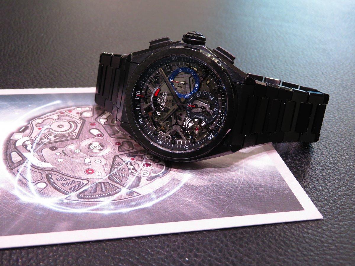 IMG_0307 フルセラミックのオールブラックモデル「デファイ・エル・プリメロ 21」 - DEFY