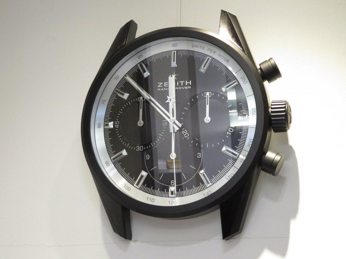 IMG_0805 ゼニスブティック大阪店内にあったゼニスの壁掛け時計がデファイ エル・プリメロ21に変わりました♪ - DEFY ご案内