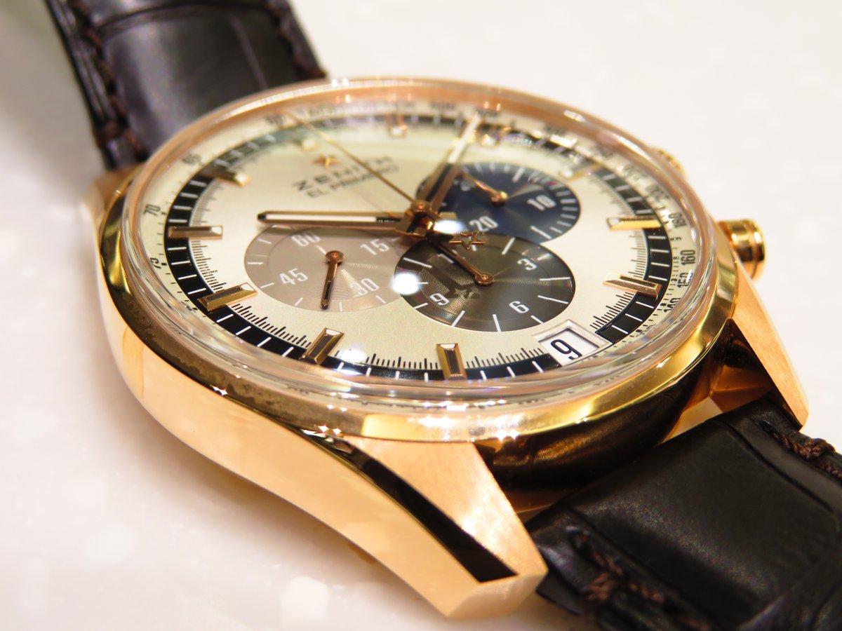 IMG_0475 エル・プリメロ 42㎜のゴールドモデルは上品でやさしい雰囲気が魅力的! - CHRONOMASTER