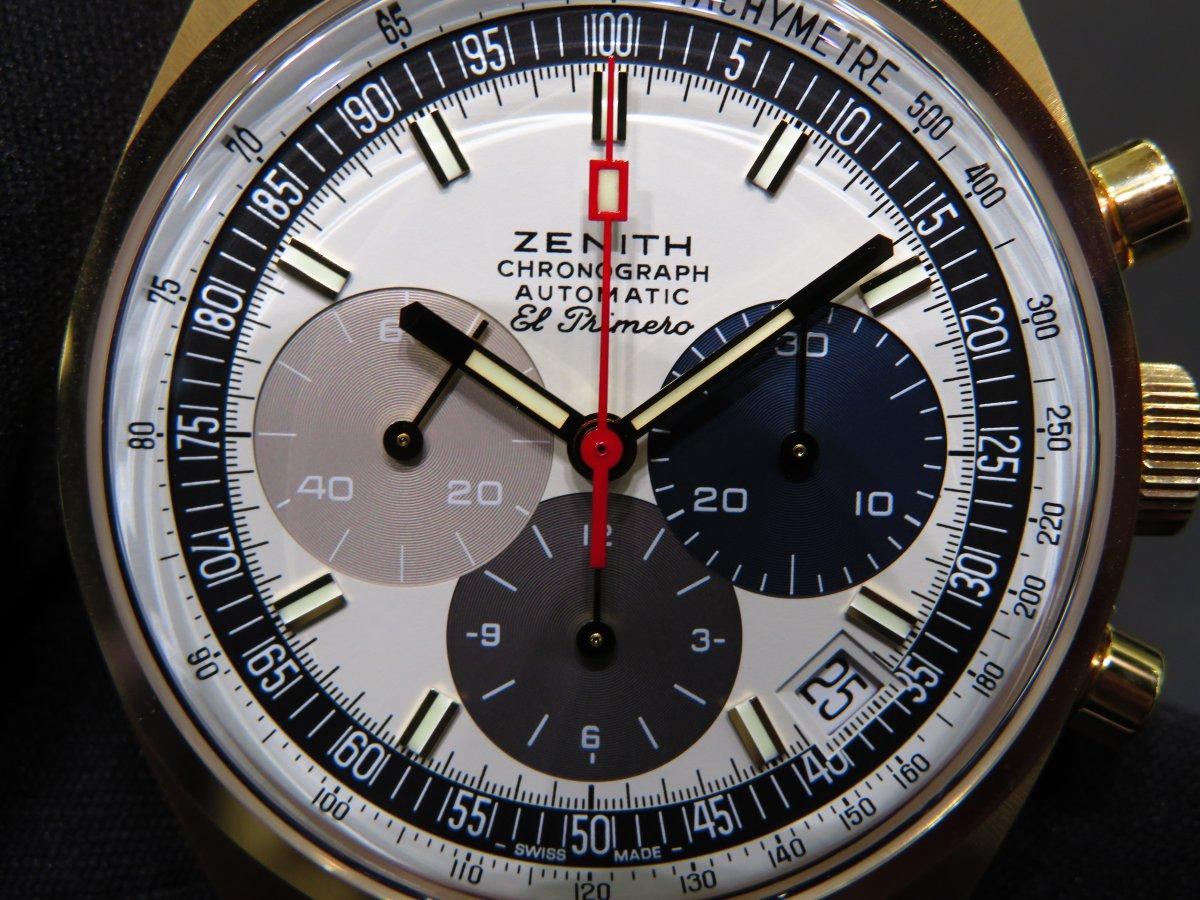 IMG_0502 ゼニスコレクションの中では珍しい18Kイエローゴールドモデル50周年エルプリメロA386リバイバル - CHRONOMASTER