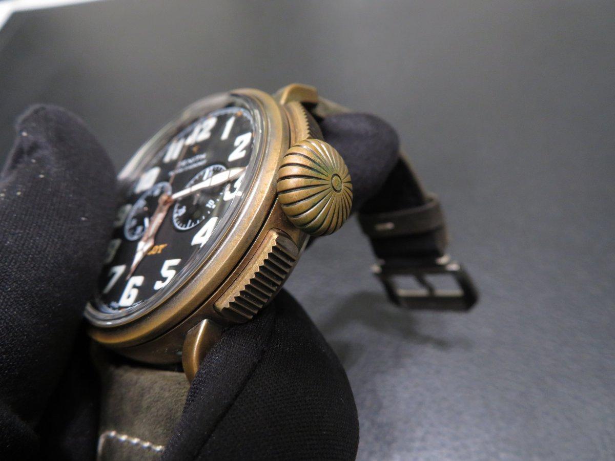 IMG_0697 ブロンズ素材独特の変化。K様のゼニスコレクション、パイロットタイプ20 ブロンズ - PILOT