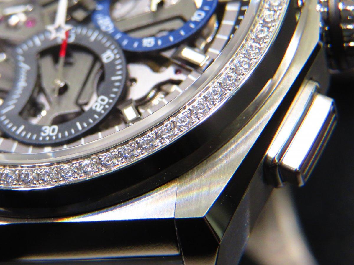 IMG_0740 人と被らない時計はいかがですか?デファイ エル・プリメロ21からダイヤモンドが目を引くブティック限定モデルがいち早く登場! - DEFY ご案内