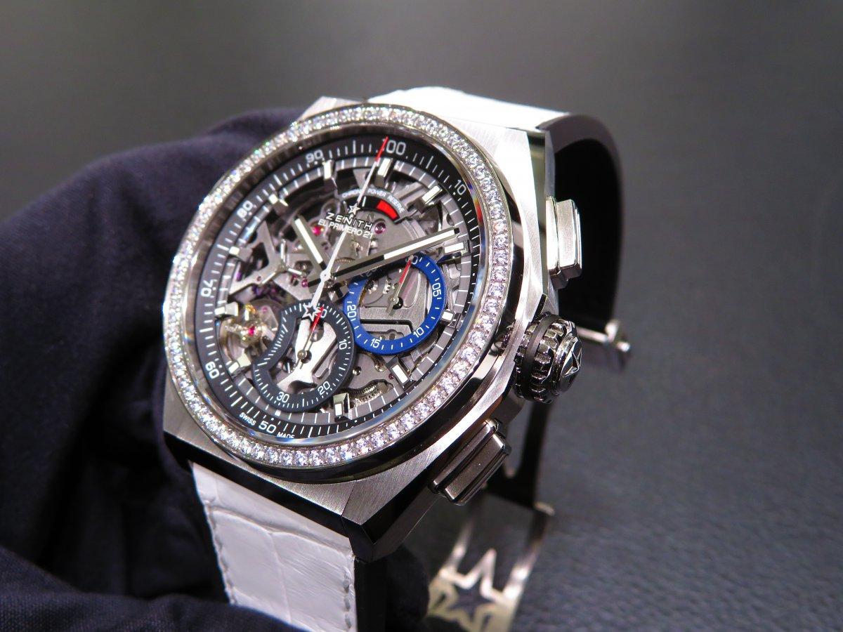 IMG_0742 人と被らない時計はいかがですか?デファイ エル・プリメロ21からダイヤモンドが目を引くブティック限定モデルがいち早く登場! - DEFY ご案内