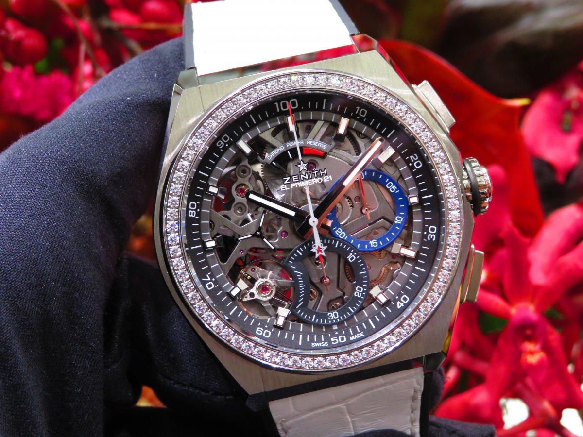 IMG_0750 人と被らない時計はいかがですか?デファイ エル・プリメロ21からダイヤモンドが目を引くブティック限定モデルがいち早く登場! - DEFY ご案内