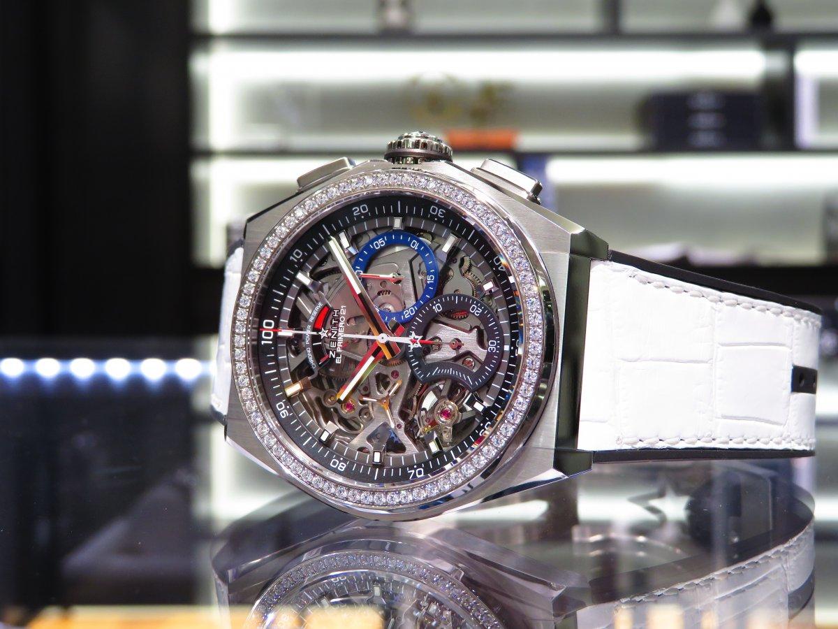 IMG_0753 人と被らない時計はいかがですか?デファイ エル・プリメロ21からダイヤモンドが目を引くブティック限定モデルがいち早く登場! - DEFY ご案内