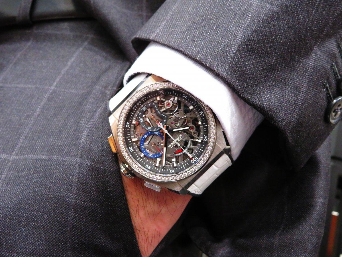 IMG_0757 人と被らない時計はいかがですか?デファイ エル・プリメロ21からダイヤモンドが目を引くブティック限定モデルがいち早く登場! - DEFY ご案内