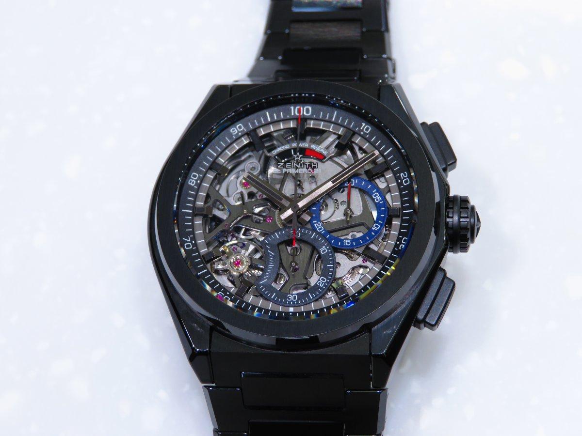 IMG_0910 「デファイ エル・プリメロ21」より精悍で艶っぽいブラックセラミックモデル。 - DEFY