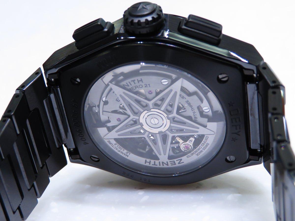 IMG_0915 「デファイ エル・プリメロ21」より精悍で艶っぽいブラックセラミックモデル。 - DEFY