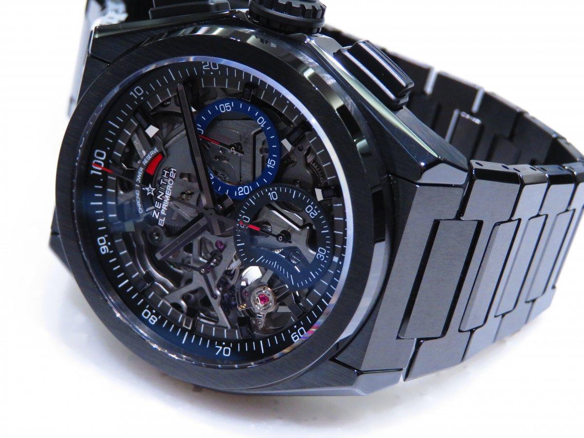 IMG_0923 「デファイ エル・プリメロ21」より精悍で艶っぽいブラックセラミックモデル。 - DEFY