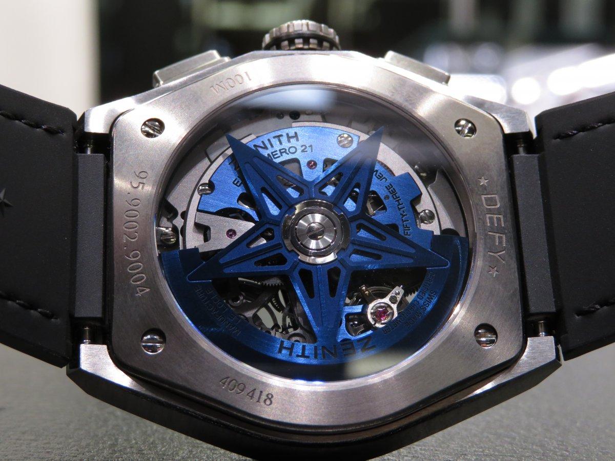 IMG_0961 スケルトン文字盤の中に綺麗なブルー!デファイエルプリメロ21スケルトンブルーはメカニックデザインの中に爽やかさを残します。 - DEFY
