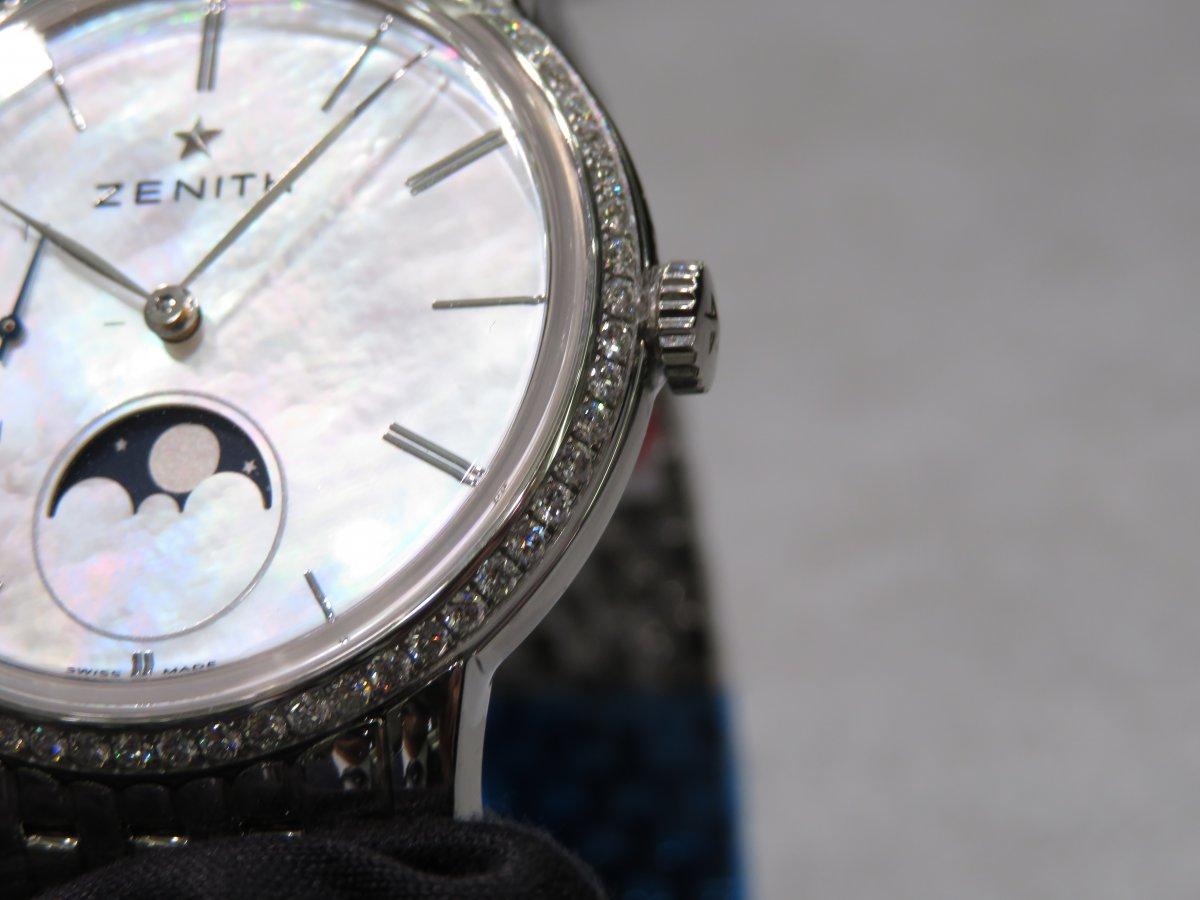 IMG_1026 女性の方必見、ゼニスレディースコレクション エリートレディ美しいMOP文字盤とベゼルのダイヤモンド。 - ELITE
